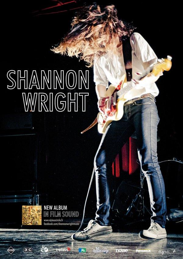 Affiche Shanon Wright- photo par Christophe Levet