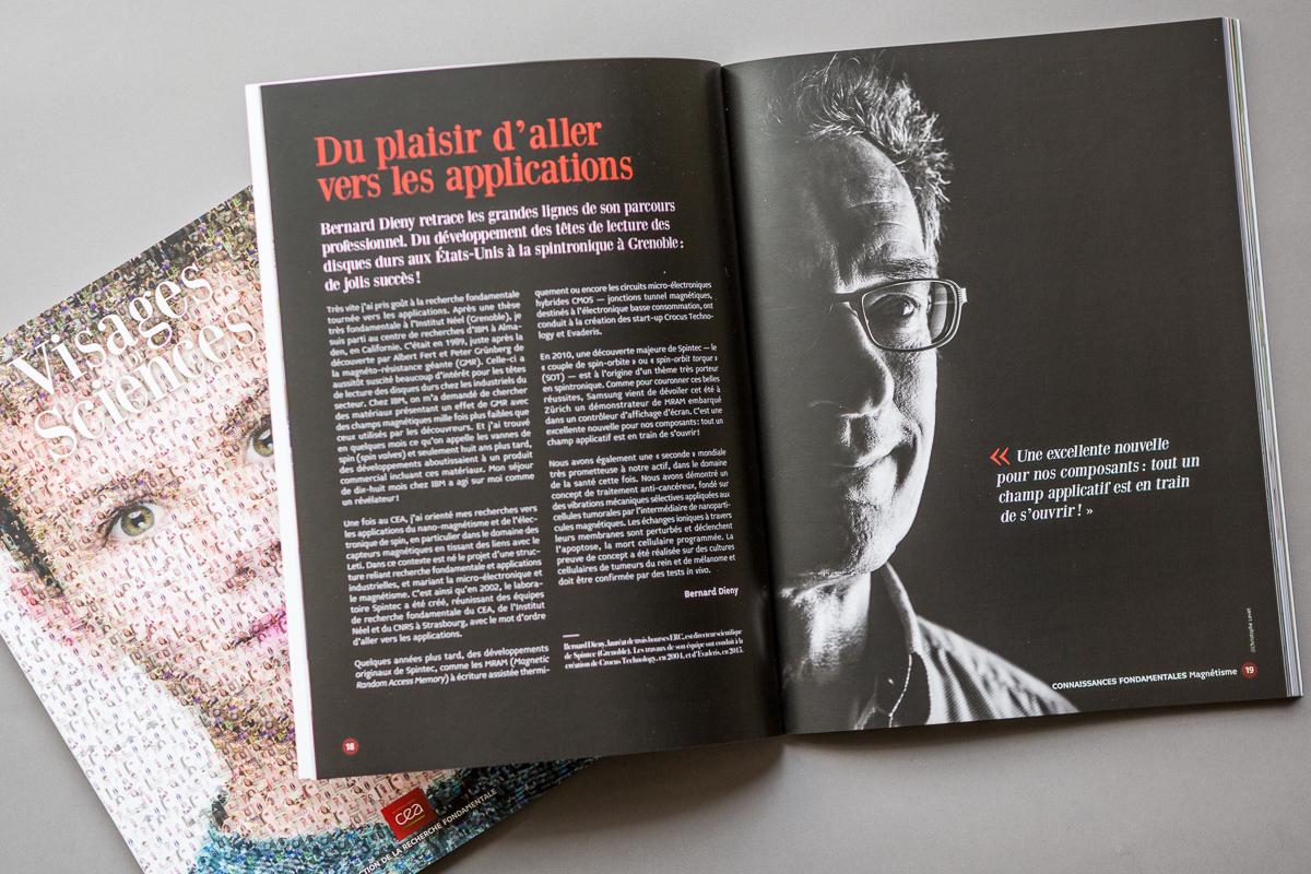 Portraits photo de Bernard Dieny pour le CEA à Grenoble par le photographe Christophe Levet