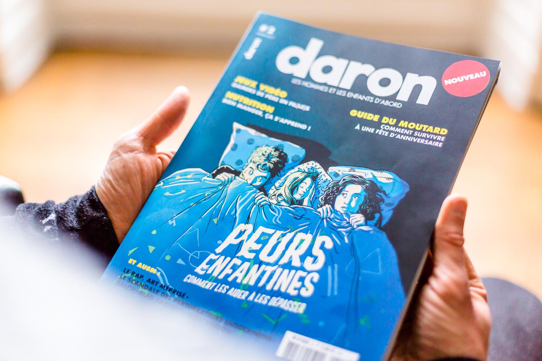 Couverture de Daron Magazine, Portraits photo éditorial pour Daron Magazine réalisés par le photographe Christophe Levet à Grenoble