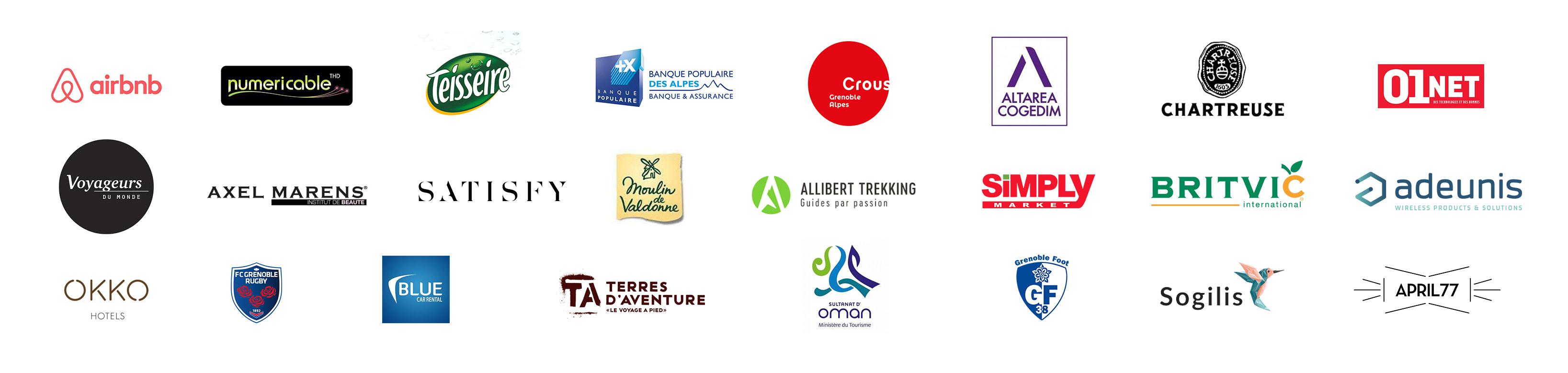 logos des Entreprises et institutions