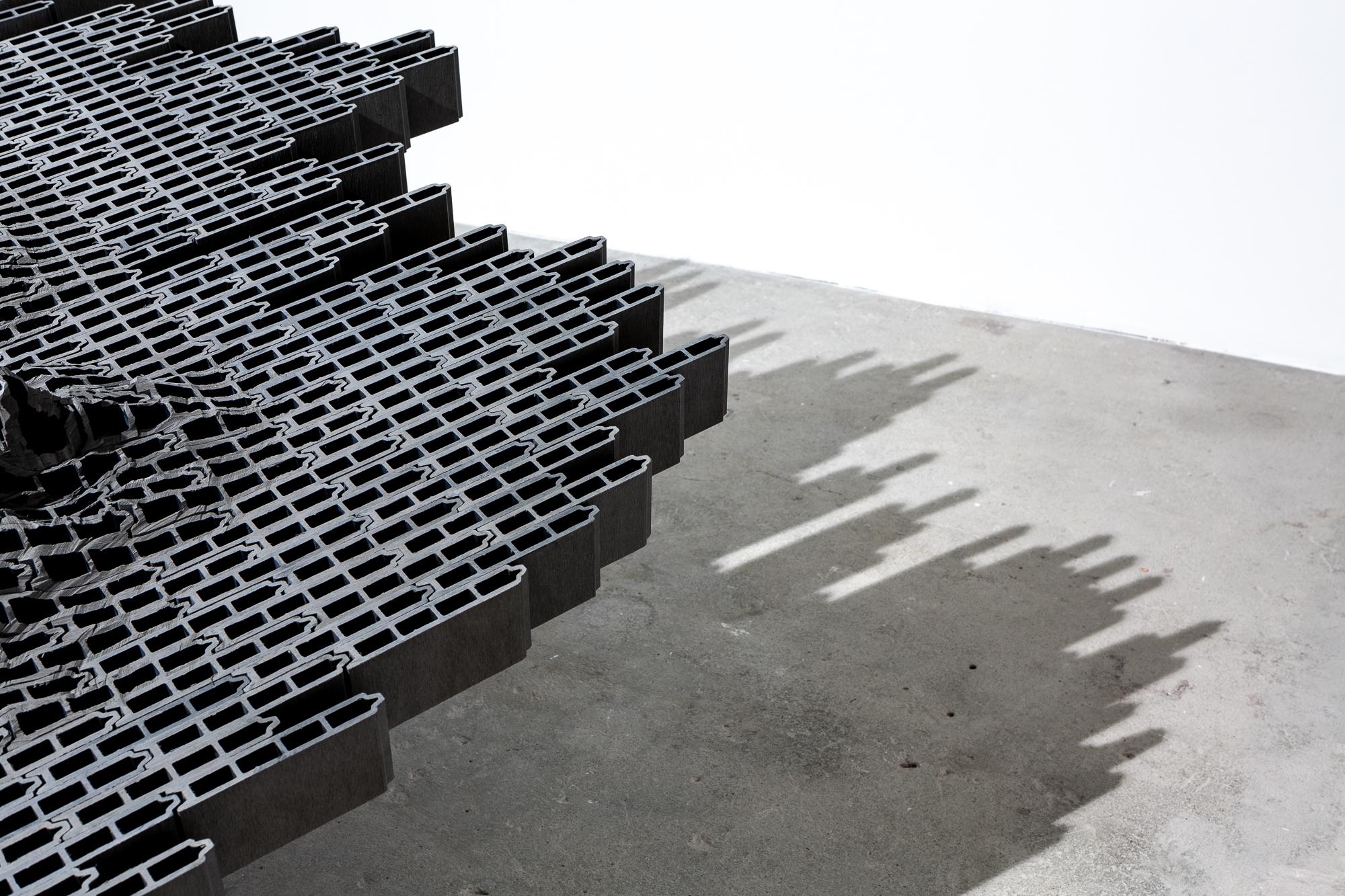 détail de l'une des oeuvres de l'exposition de Vincent Mauger à Grenoble