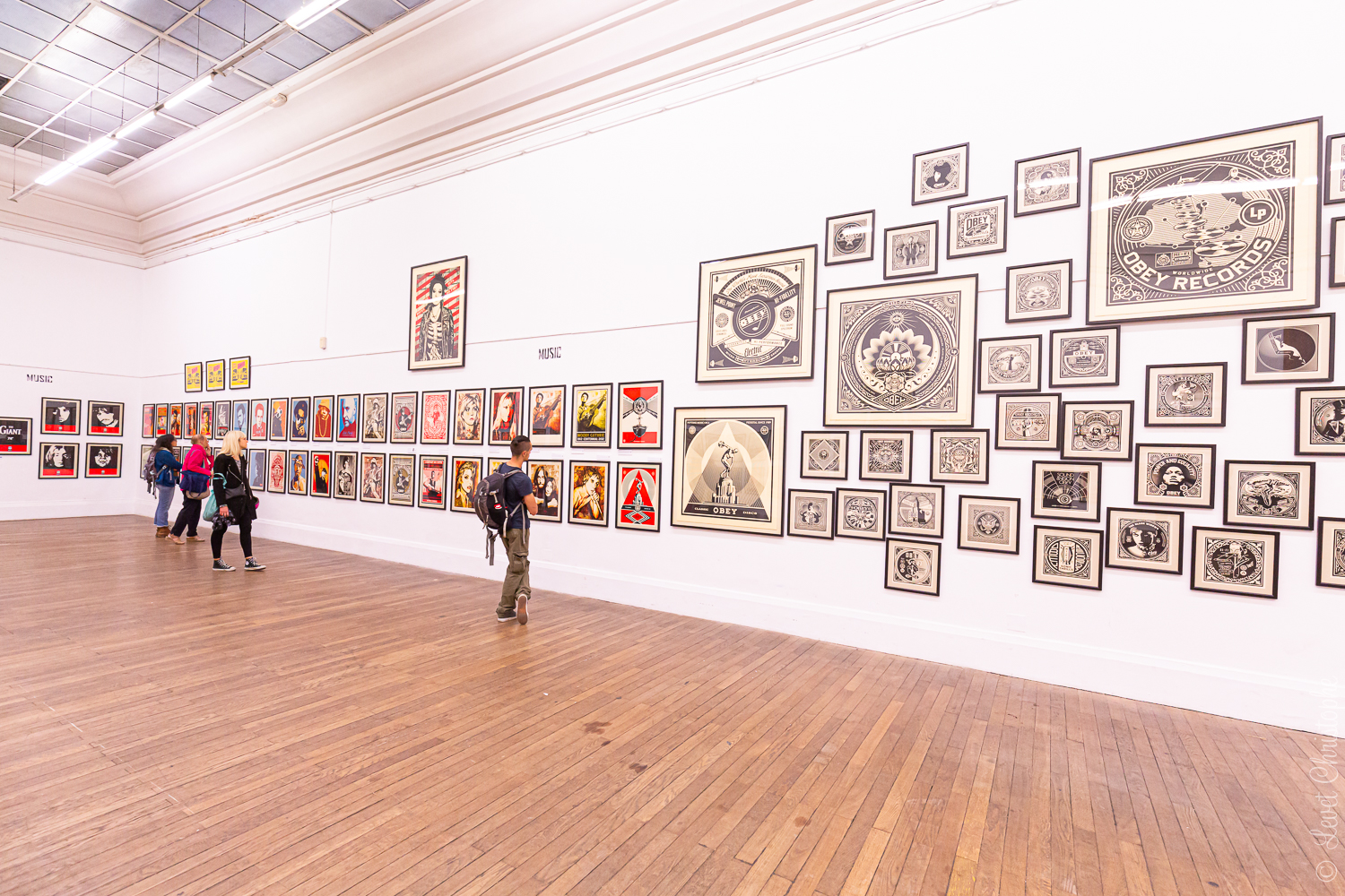 "Exposition ""Obey, 30 years of resistance""de Shepard Fairey à Grenoble."